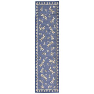 Clatterbuck Blue Dragonfly Indoor/Outdoor Area Rug