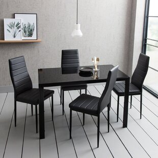 Cecillia Dining Set With 4 Chairs