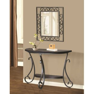 Amazing Thomaston Half Moon Console Table And Mirror Set Ibusinesslaw Wood Chair Design Ideas Ibusinesslaworg