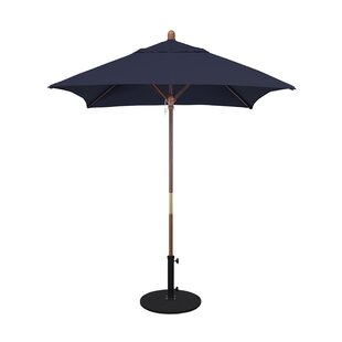Beachcrest Home Burl 6' Square Market Umbrella