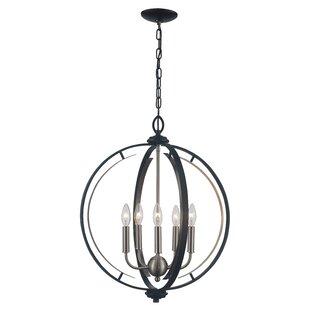 Charlton Home Terrell 5-Light Globe Chand..