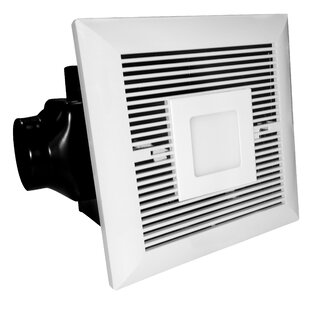 Bathroom fan with led light wayfair 120 cfm bathroom fan with led light aloadofball Gallery