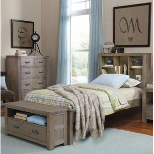 Grovelane Teen Stella Twin Bookcase Bed with Trundle