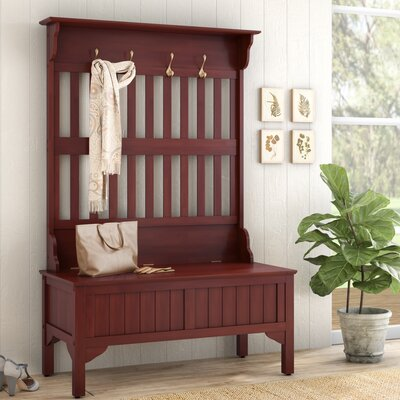 Medau Hall Tree Full Storage Bench August Grove Color: Cherry