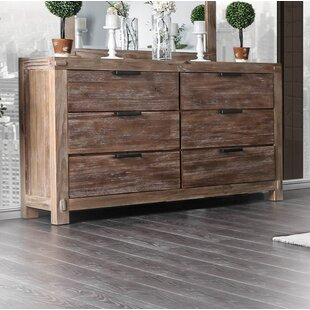 Union Rustic Perez 6 Drawer Double Dresser