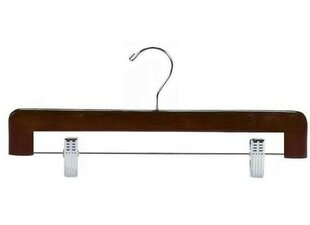 Comparison Decorative Wooden Pant/Skirt Hanger with Clips (Set of 25) ByOnly Hangers Inc.