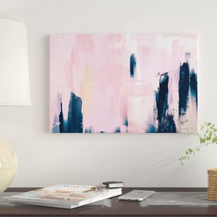 Pink Navy Graphic Art Print On Canvas