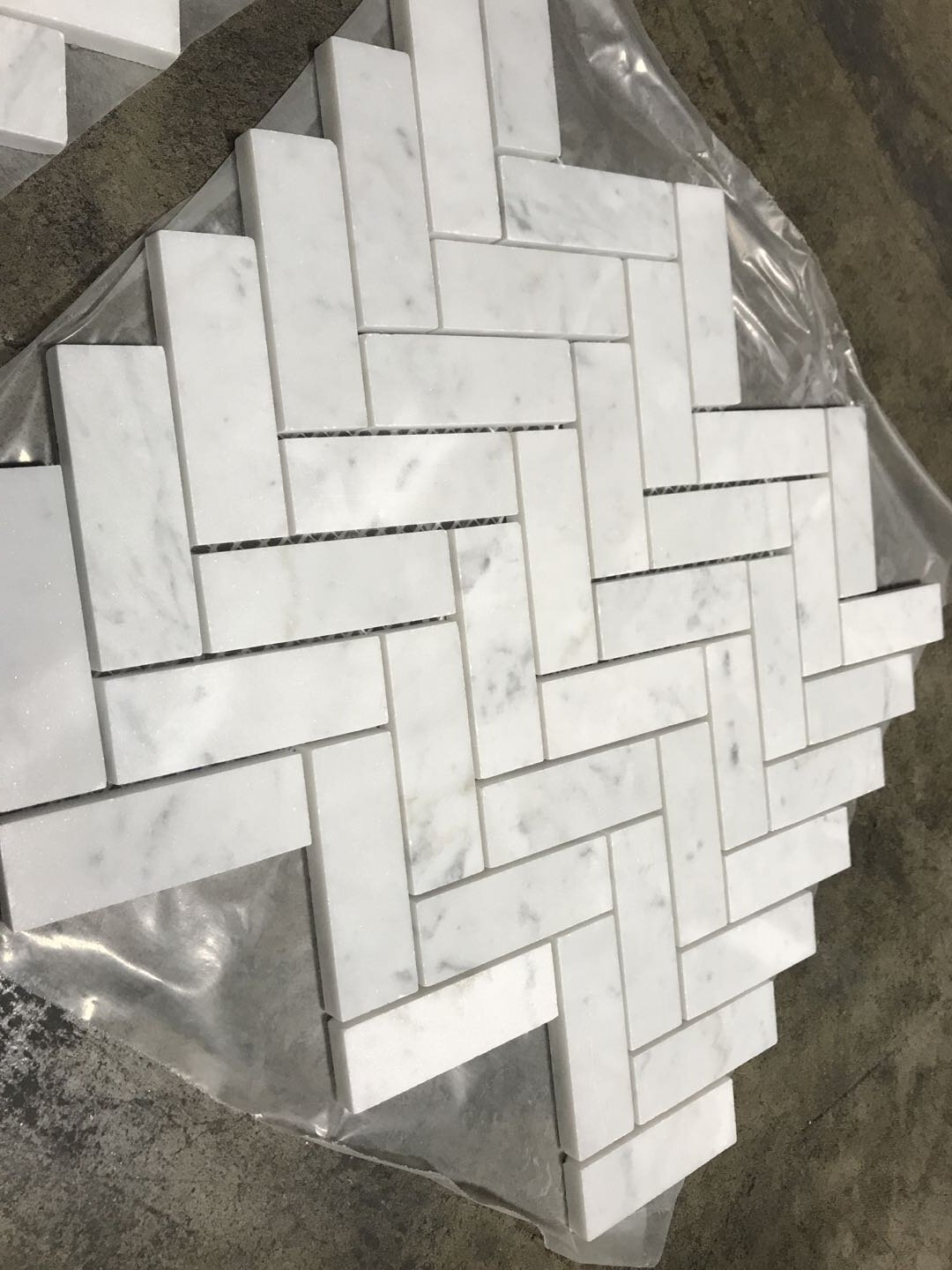 Marble Herringbone Wall Floor Tile