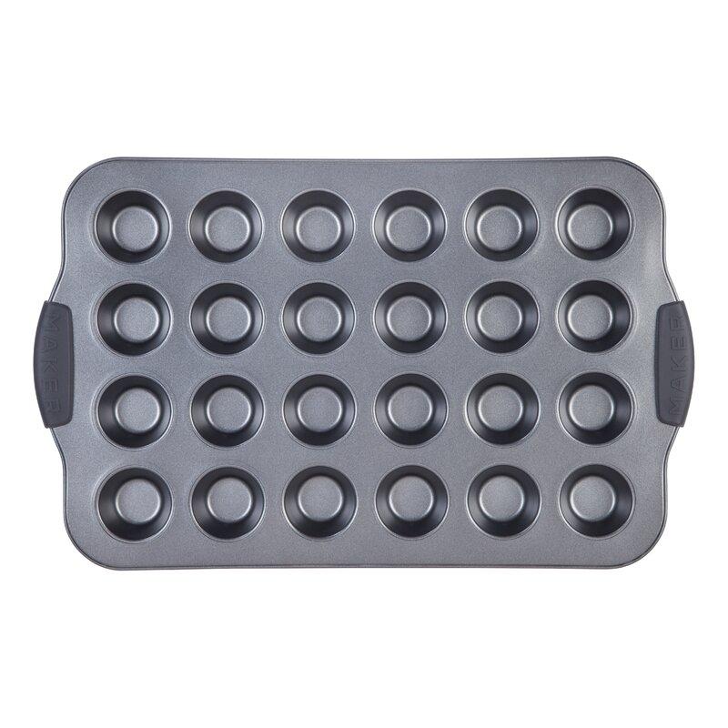 Maker Homeware Non Stick 24 Cup Mini Muffin Pan Amp Reviews