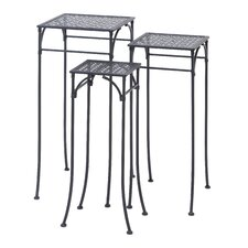 Metal Square 3 Piece Nesting Plant Stand Set by ABC Home Collection