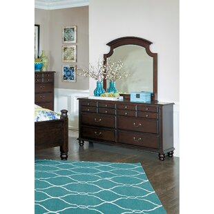 Lonoke 6 Drawer Dresser with Mirror