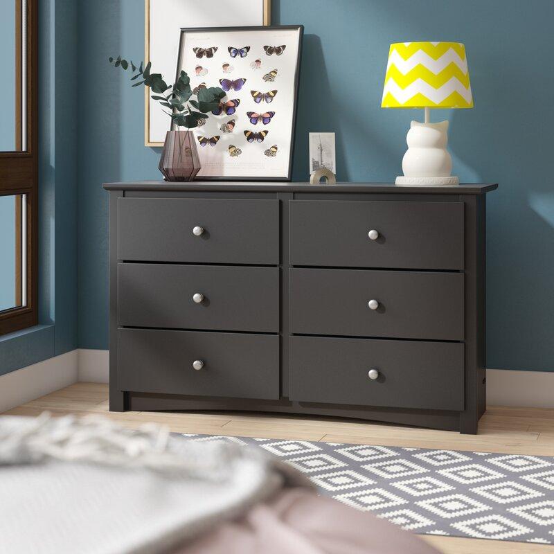 Latitude Run Wanda Children's 6 Drawer Double Dresser & Reviews