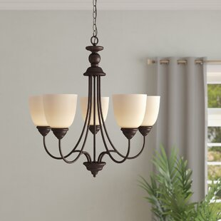Weatherly 5-Light Shaded Chandelier by Darby Home Co