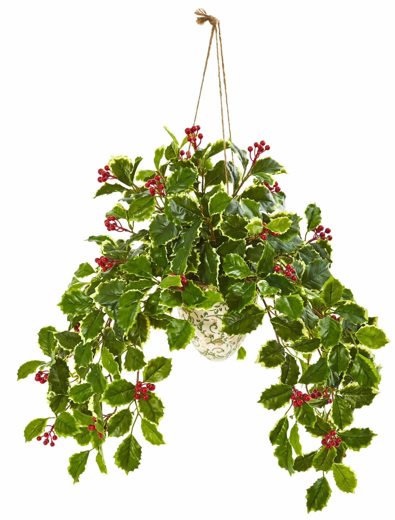 Charlton Home 30 Artificial Foliage Plant In Basket Wayfair
