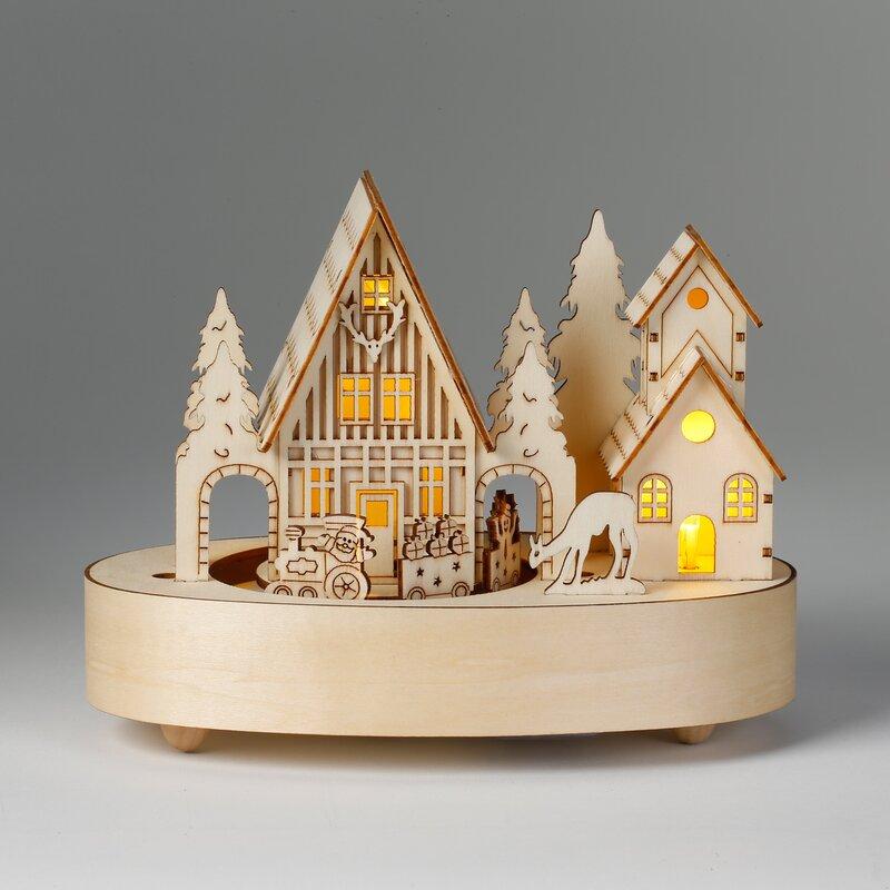 Inge 39 S Christmas Decor Holz Dekoration Mit Beleuchtung Und
