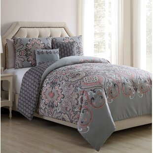 Balfour Falls Blush Reversible Comforter Set by Red Barrel Studio