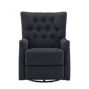 Cynthia Upholstered Swivel Glider by Harriet Bee Discount
