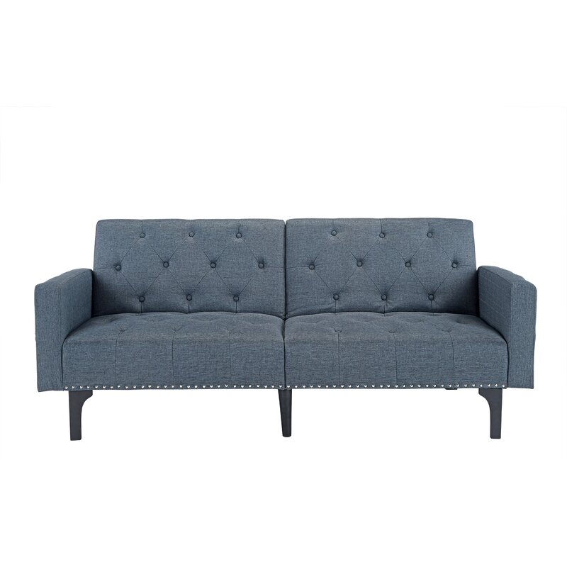 Rather Modern Tufted Reclining Sleeper Sofa