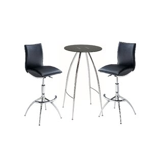 Maggard 3 Piece Adjustable Pub Table Set