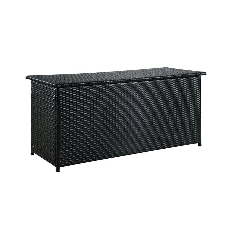 Sol 72 Outdoor  Dorian 134 Gallon Wicker Deck Box