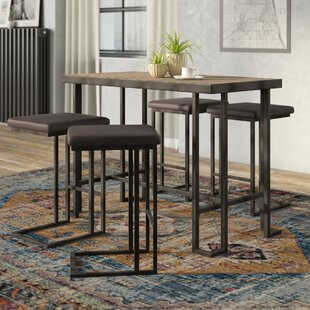 Pinnix Counter 5 Piece Pub Table Set by Union Rustic