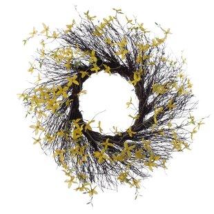 Spring 26 Forsythia Wreath by August Grove