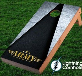 Lightning Cornhole Army Design Cornhole Board
