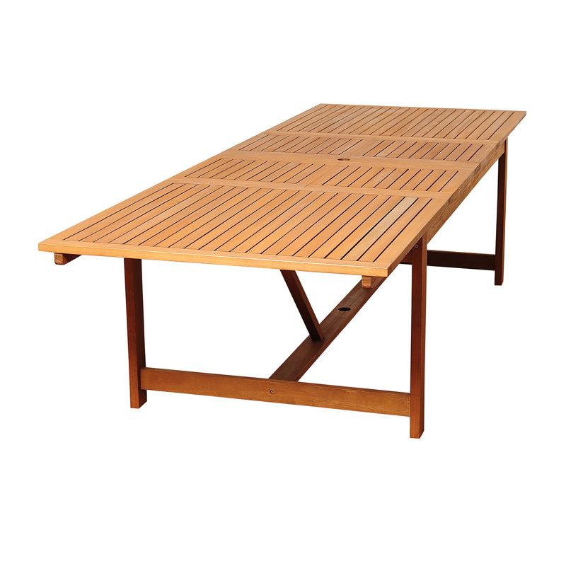 Bridgepointe Extendable Eucalyptus Wood Dining Table