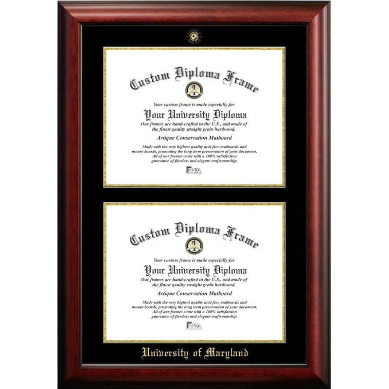 Diploma Frame Deals The Contemporary University Of Maryland Picture Frame Wayfair