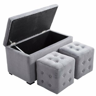 Winston Porter Hall 3 Piece Nesting Tufted Storage Ottoman Set