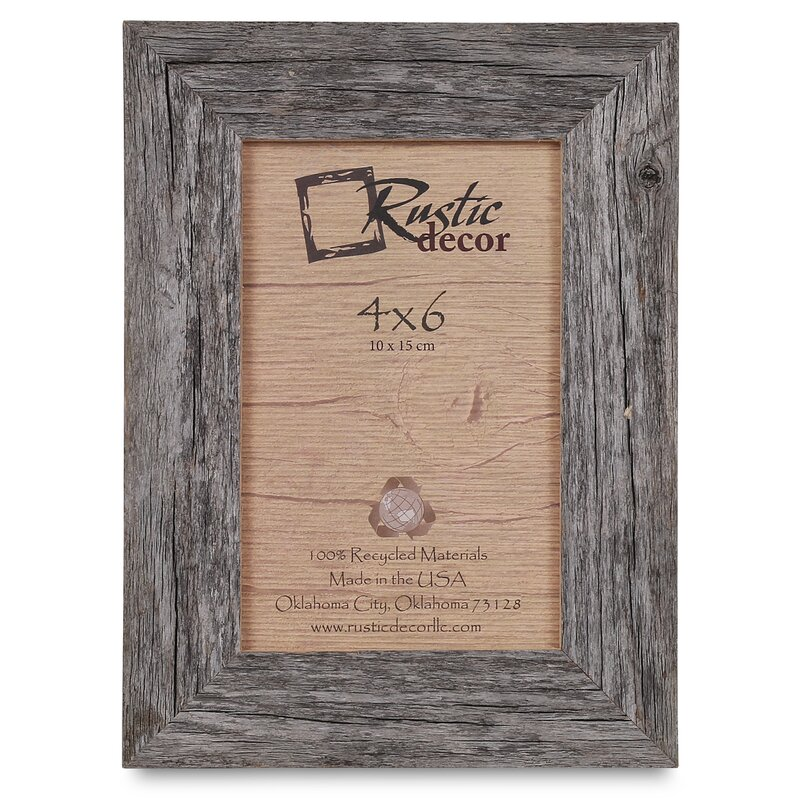 Union Rustic Burham Barn Wood Reclaimed Standard Picture Frame ...