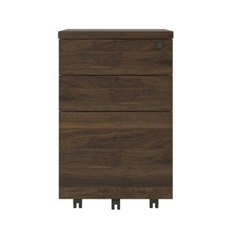 the latest c69a7 0f4d4 Schroeder 3-Drawer Mobile Vertical Filing Cabinet & Reviews ...