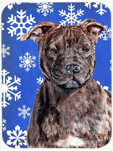 The Holiday Aisle Ashlynn Staffordshire Bull Terrier Staffie Glass Cutting Board Wayfair