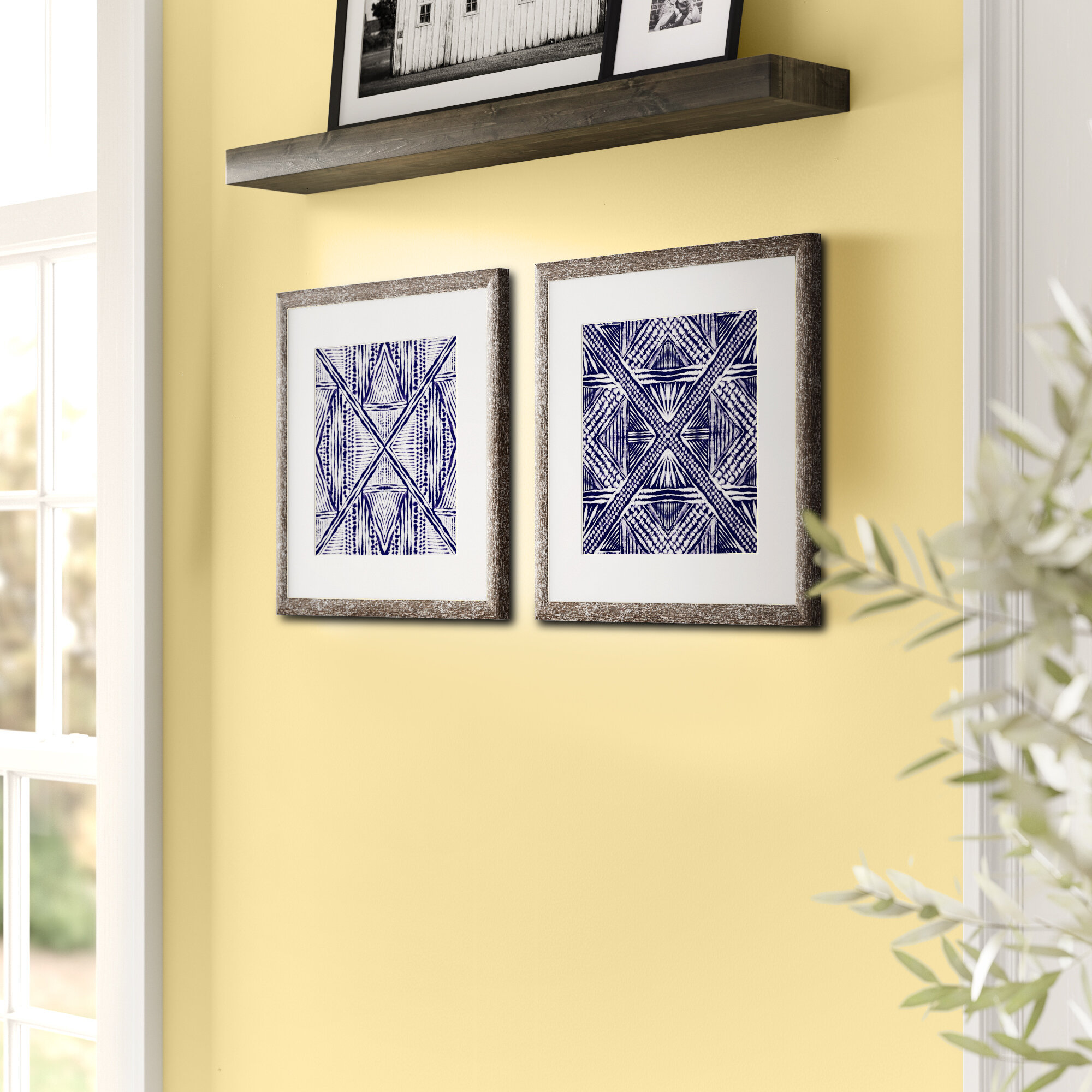 Three Posts Inky Kaleidoscope 2 Piece Picture Frame Painting Print Set On Paper Reviews Wayfair