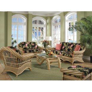 Indoor Wicker Living Room Sets   Wayfair