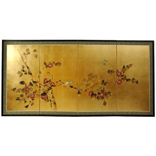 Maurice Blossom 4 Panel Room Divider by World Menagerie