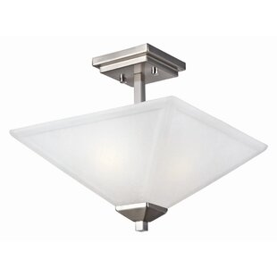 Bendigo 2-Light Semi Flush Mount by Ebern Designs