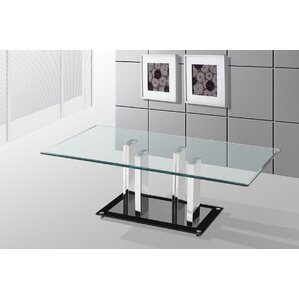 Alise Glass Top Coffee Table by Orren Ellis
