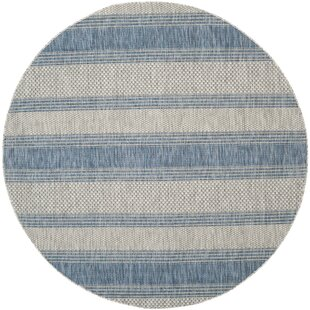 McCall Gray/Navy Indoor/Outdoor Area Rug by Beachcrest Home