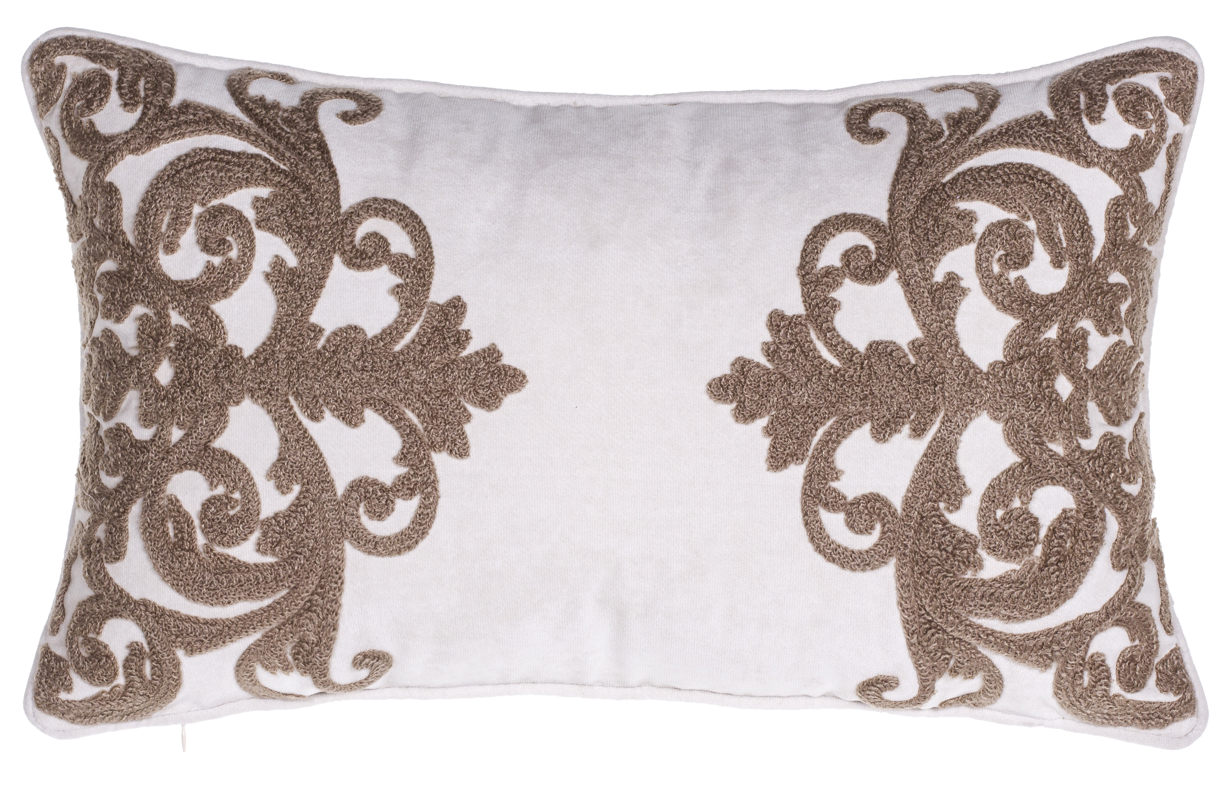 14 Karat Home Inc Versailles Crewel Stitch Lumbar Pillow Reviews Wayfair