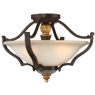 Metropolitan by Minka Chateau Nobles 3-Light Semi Flush Mount