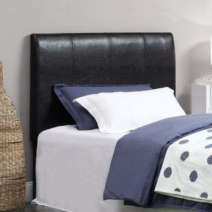 Kinnelon Upholstered Espresso Panel Headboard by Latitude Run