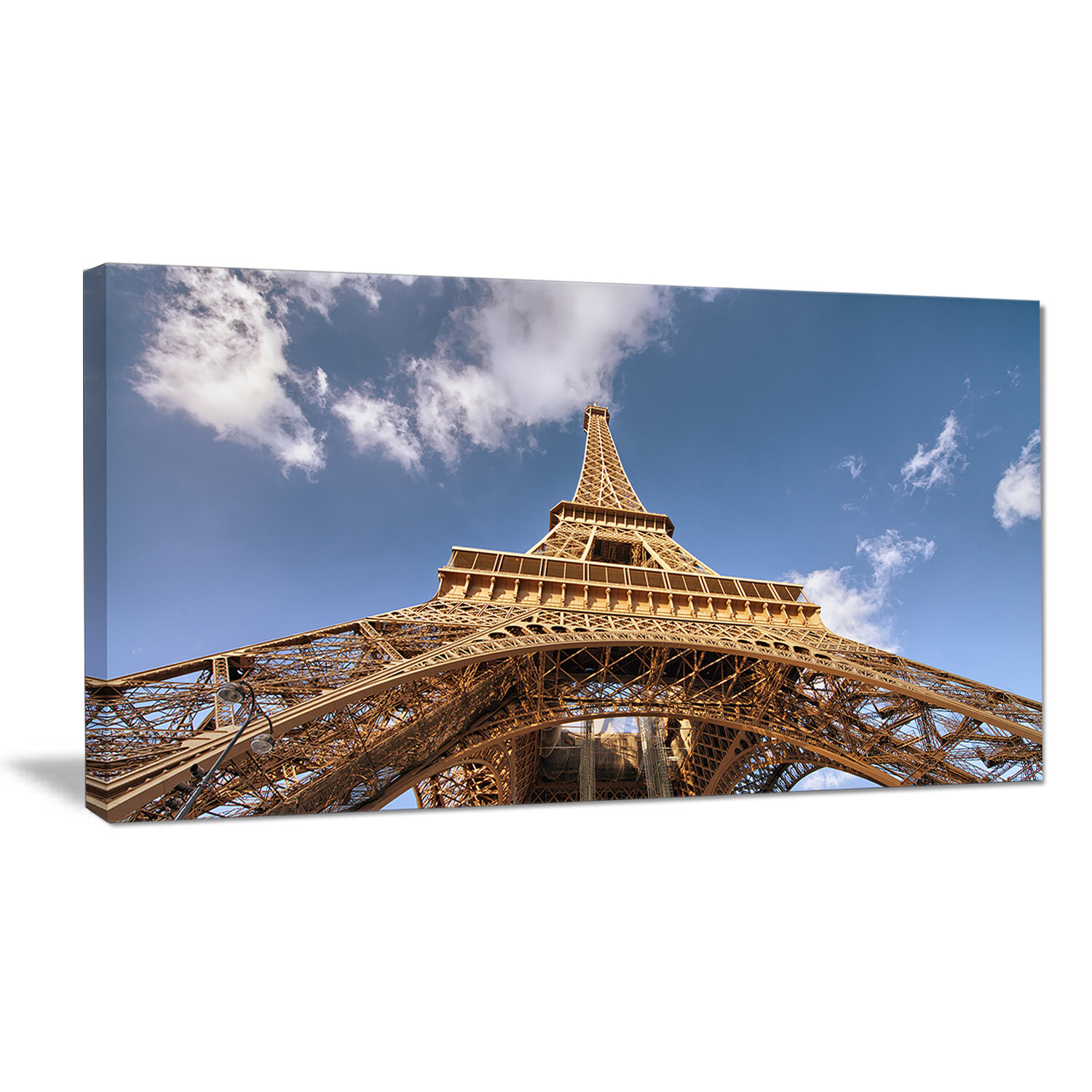 Designart Beautiful View Of Paris Eiffel Tower Under Calm Sky Cityscape Photographic Print On Wrapped Canvas Wayfair