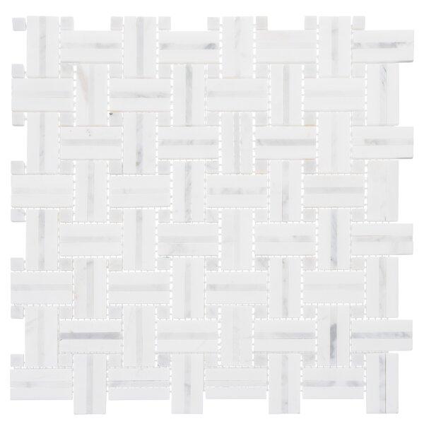 Marble Basketweave Tile Wayfair
