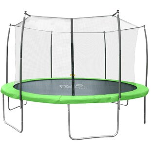 Pure Fun 12' W Dura-Bounce Round Trampoline with Safety Enclosure