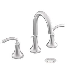 Moen Icon Widespread High Arc Bathroom Faucet with Optional Pop-Up Drain