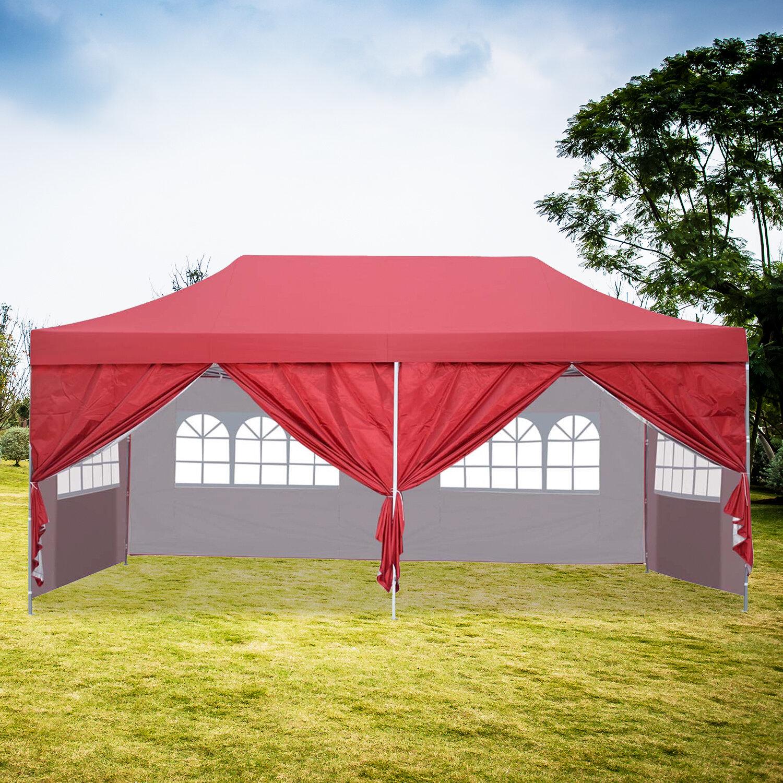 Ainfox 20 Ft W X 10 Ft D Steel Party Tent Canopy Reviews Wayfair