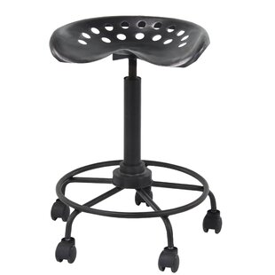 Lovely Steelton Modern Adjustable Height Bar Stool With Wheels