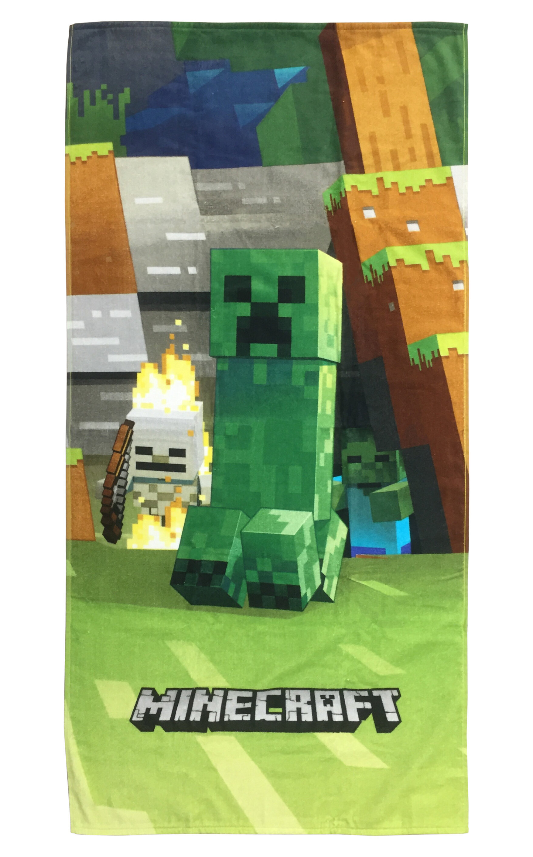 Minecraft Mobs Emerge Super Soft /& Absorbent Kids Bath//Pool//Beach Towel New ..