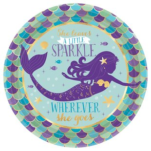 Mermaid Wishes Paper Disposable Appetizer Plate (Set of 40)